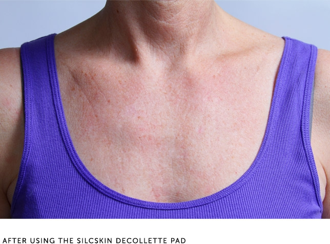 After Using The Silcskin Decollette Pad