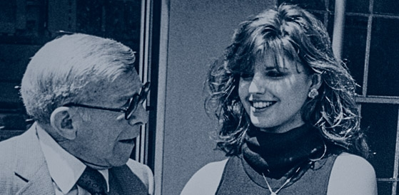 Camille Calvet with George Burns